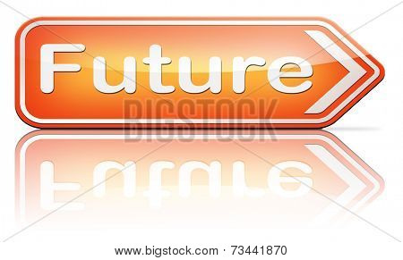 bright future ahead planning a happy future having a good plan with text and word concept