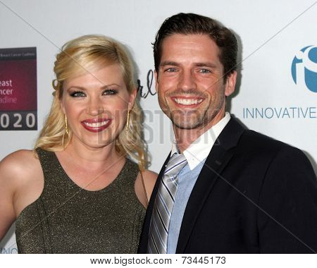 LOS ANGELES - OCT 6:  Adrienne Frantz, Scott Bailey at the Les Girls 14 at Avalon on October 6, 2014 in Los Angeles, CA