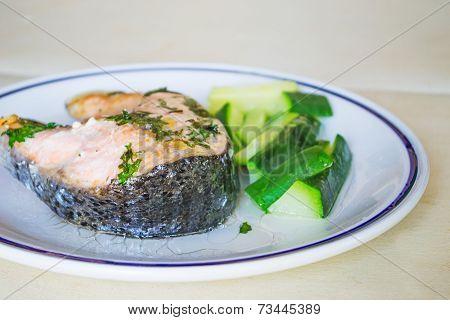 Salmon And Zucchini