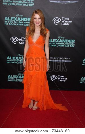 LOS ANGELES - OCT 6:  Bella Thorne at the