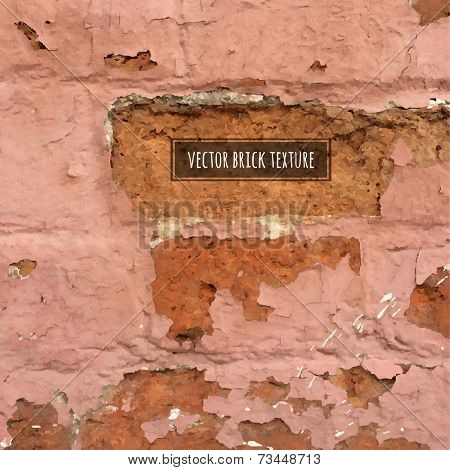 Vector Brick Texture, Vector Illustration