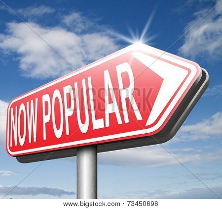 now popular lastest trends,  fashion trend trending product or activity road sign