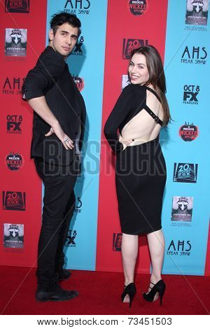 LOS ANGELES - OCT 5:  Nick Simmons, Sophie Simmons at the