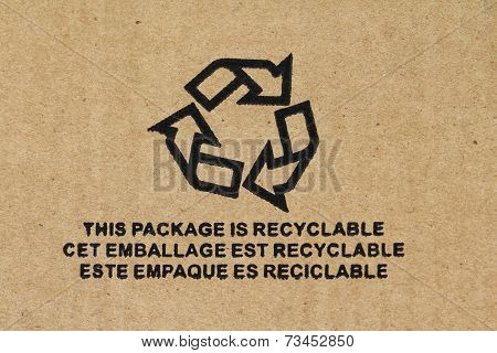 Symbol - Recyclable packaging