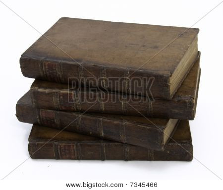 Stack Of Four Antique Books