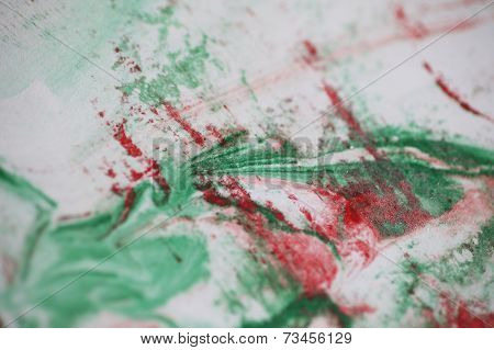 Abstract design in red and green
