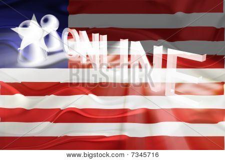 Flag Of Liberia Wavy Online