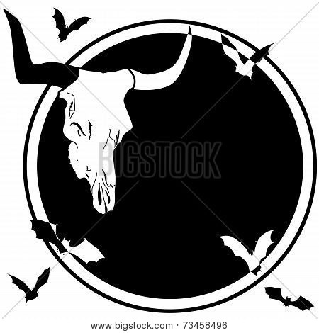 Bull Skull And Bats