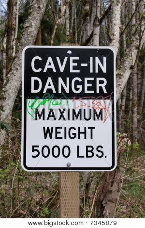 Cave-in Danger Sign
