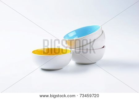 empty colorful bowls