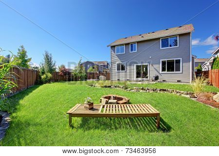 House With Large Backyard And Patio Area