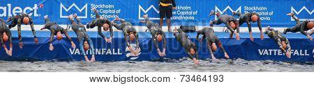 Triathlon, The Start, Swimming, Men