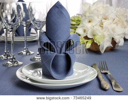 Napkin Decorated With Flower