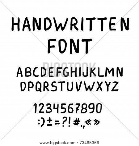 Handwritten Marker Alphabet Font