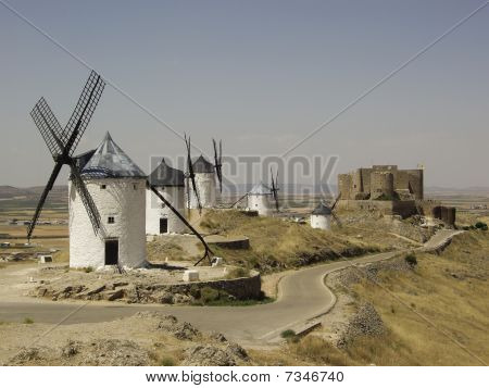 Windmills and castle