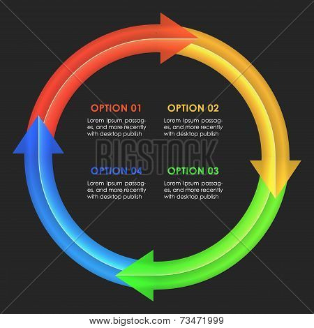 Infographics design template. Circular arrows