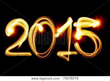 Happy New Year 2015 by light