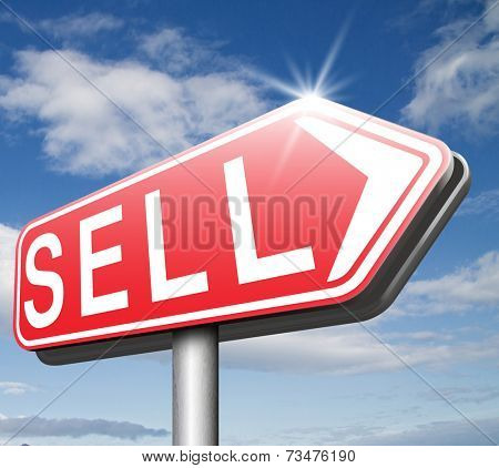 Sell products online at internet webshop, web shop or stock market selling second hand