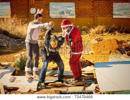 Santa And Easter Bunnies Revenge