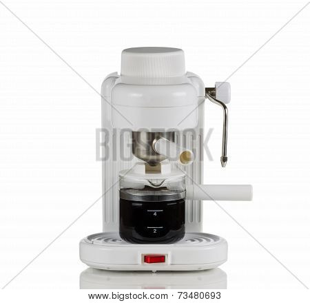 Cappuccino Maker On White