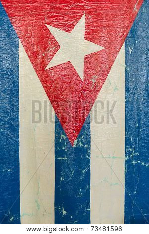 Grungy Cuban Flag A National Symbol