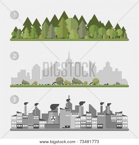 Vector concept - Ecology