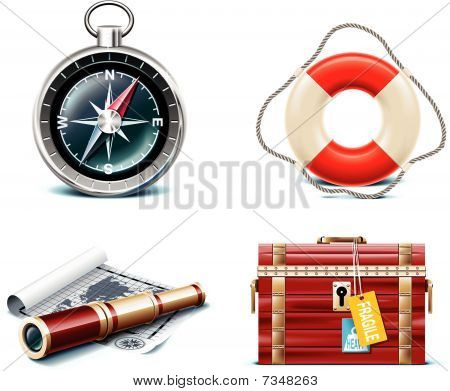 Vector marine travel icons. Part 2