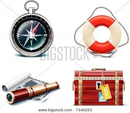 Vektor-marine Reise Icons. Teil 2