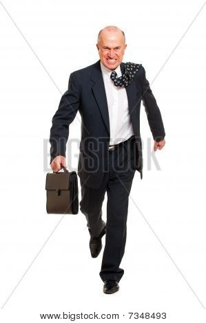 Stern Chief Going To The Work