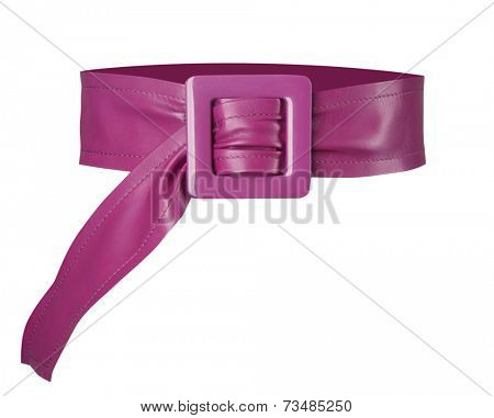 claret belt isolated on white