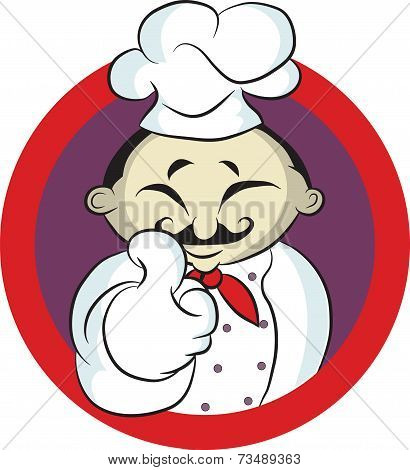 friendly Chef smiling thumbs up and wearing uniform