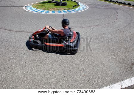 Having Fun On A Go Cart