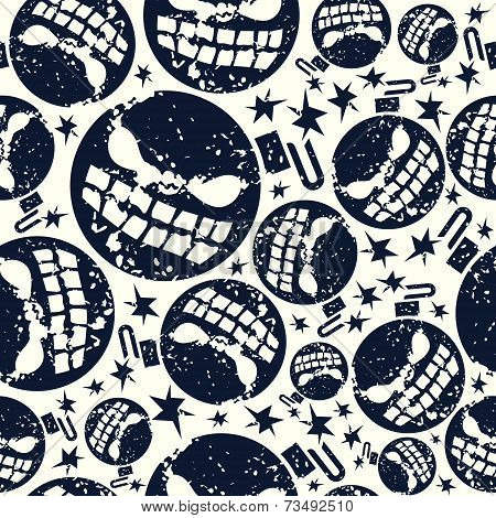 Halloween  Bomb Seamless Pattern