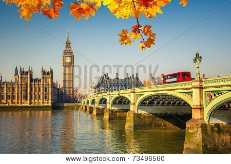 Big Ben and Houses of parliament in London, UK