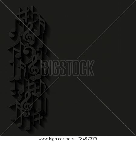 Abstract background with musical notes. Vector illustration