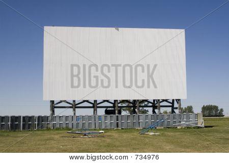 Blank Drive-In Movie Screen