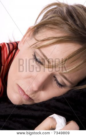 Sleepy Lady Sick