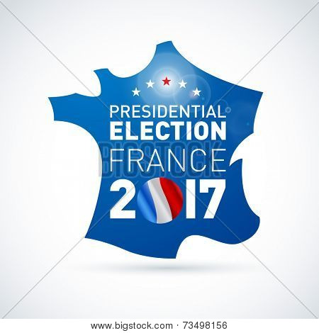 2017 French presidential election illustration. EPS 10