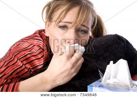 Wiping Nose Sick