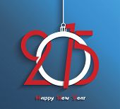 pic of greeting card design  - Happy new year 2015 greeting card design - JPG