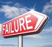 pic of fail job  - big failure ends in disaster fail exam test or other attempt failing examination is a disappointment  - JPG