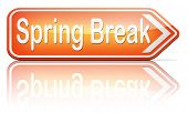 foto of spring break  - spring break holiday or school vacation     - JPG