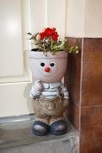 picture of planters  - Happly little planter decoration on floor outdoor object - JPG