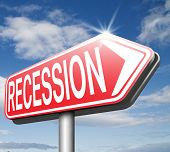 stock photo of stock market crash  - bank crisis recession and stock crash economic and financial bank recession market crash - JPG