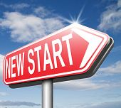 picture of fresh start  - new fresh start or chance back to the beginning and do it again   - JPG