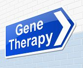 image of gene  - Illustration depicting a sign with a gene therapy concept - JPG