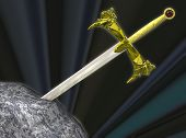 image of arthurian  - The legendary sword of King Arthur - JPG