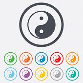 image of ying yang  - Ying yang sign icon - JPG