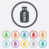 stock photo of usb flash drive  - Usb Stick sign icon - JPG
