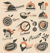 stock photo of food logo  - Set of food icons - JPG